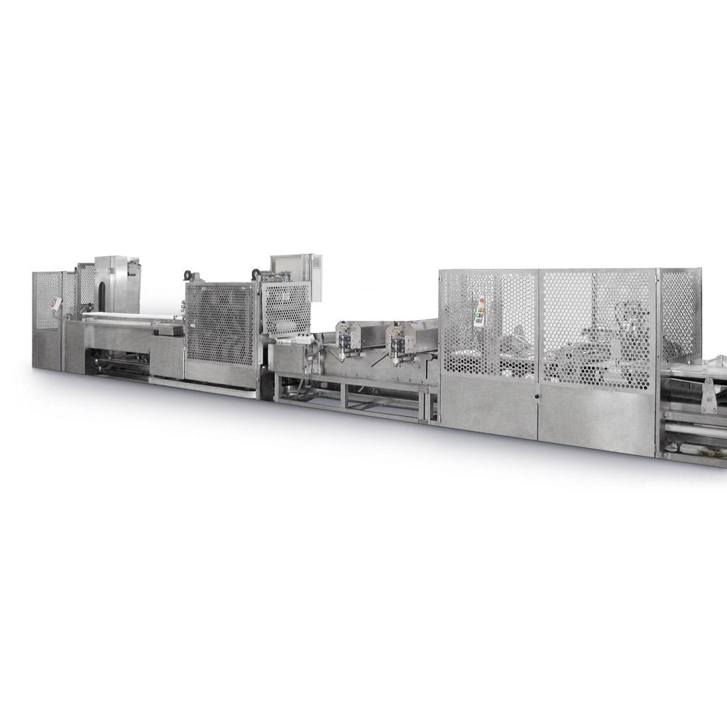 Impianto automatico per la produzione di barrette di croccante